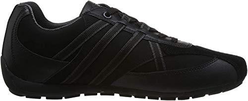 Geox Herren Low-Top Sneaker RAVEX, Männer Sneaker,Halbschuh,Sportschuh,Schnürschuh,atmungsaktiv,SCHWARZ,43 EU / 9 UK