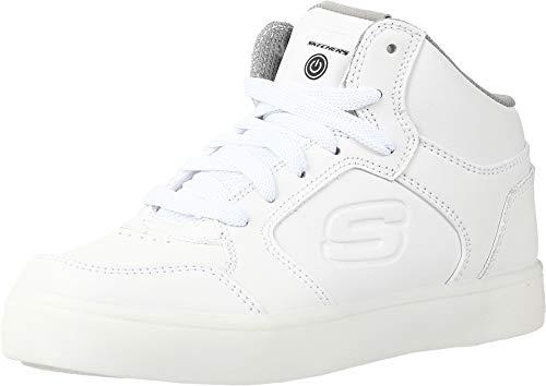 Skechers Boy's Energy Lights Trainers, White (White), 5 UK (38 EU)