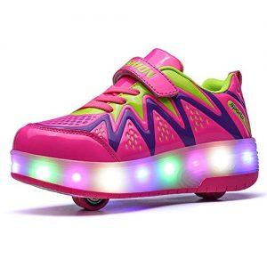 LED-Schuhe mit Rollen