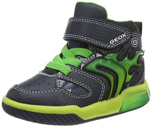 Geox Jungen J INEK Boy C Hohe Sneaker, Blau (Navy/Lime C0749), 26 EU