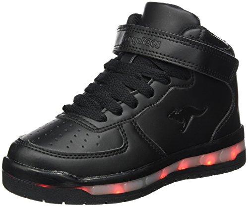 KangaROOS Unisex-Kinder K-LID Sneaker, Schwarz (Jet Black), 36 EU