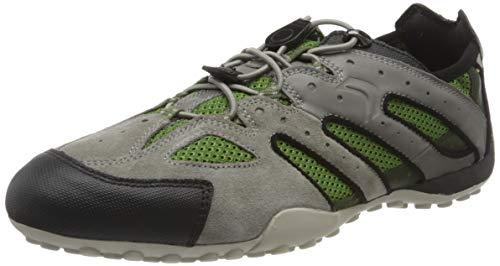 Geox Herren Uomo Snake J Sneaker, Grau (Grey/Dk Green C1314), 43 EU