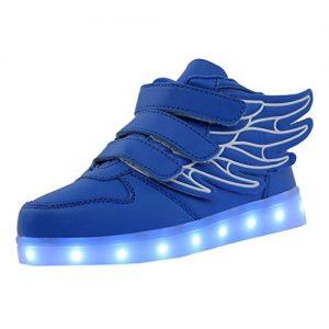 blaue LED-Schuhe