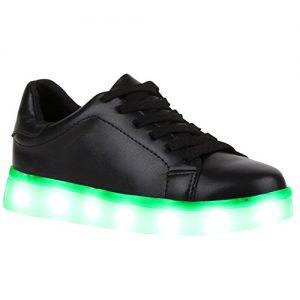 LED-Sneaker schwarz
