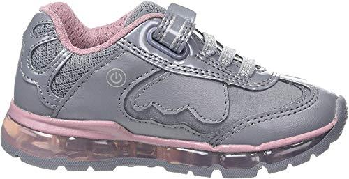 Geox Mädchen J Android Girl A Sneaker, Grau (Grey/Pink C0502), 36 EU