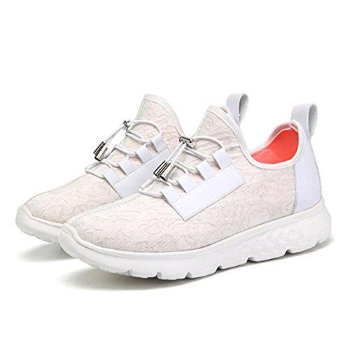 gracosy Blinkende Sneaker, Damen USB Aufladung LED Licht Schuhe Casual Sport Sneaker für Weihnachten Halloween, Weiá (weiß), 37 EU