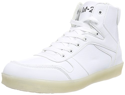 Nat-2 Unisex-Erwachsene LED Basket High-Top, Weiß (white), 43 EU
