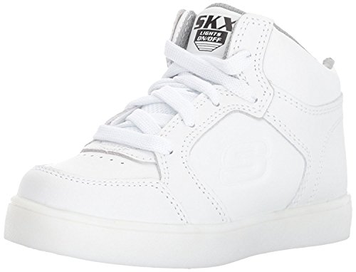 Skechers Jungen Energy Lights Elate Sneaker, Weiß (White), 33 EU