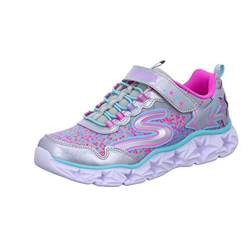 Skechers Girl's 10920L Trainers, Multicolour (Silver/Multicolour), 13.5 UK Child (33 EU)