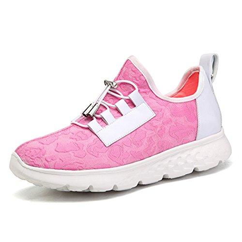 gracosy Blinkende Sneaker, Damen USB Aufladung LED Licht Schuhe Casual Sport Sneaker für Weihnachten Halloween, Pink (Rose), 37.5 EU