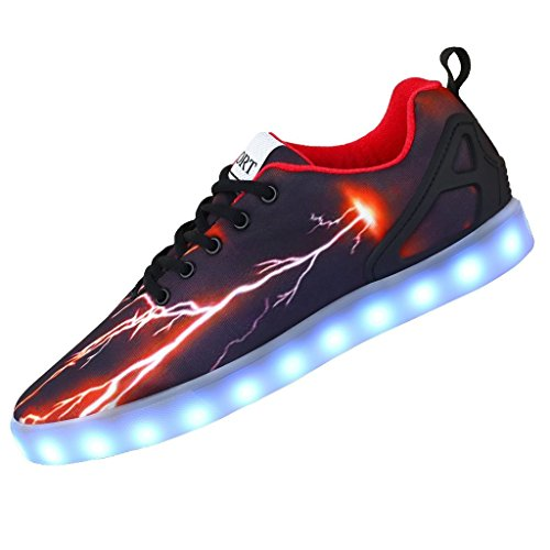 Juleya LED Schuhe,2017 Herren 7 Farbe USB Aufladen LED Leuchtend Sport Schuhe Sportschuhe LED Sneaker Turnschuhe für Erwachsene Herren