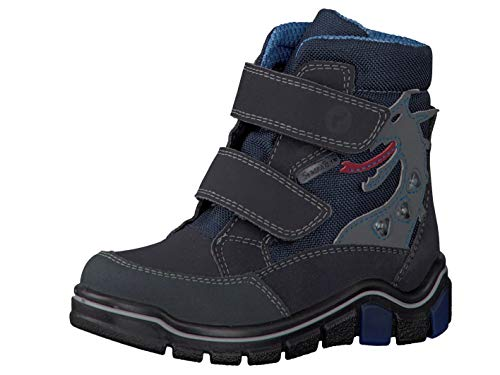 RICOSTA Pepino Jungen Winterstiefel GRISU, WMS: Weit, wasserfest, Winter-Boots Outdoor-Kinderschuhe gefüttert wasserdicht,See/Ozean,26 EU / 8 UK
