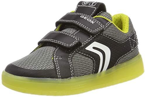 Geox Jungen J KOMMODOR BOY A Sneaker Schwarz (Black/Lime C0802) 30 EU