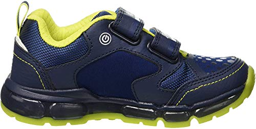 Geox Jungen J Android Boy A Sneaker, Blau (Navy/Lime C0749), 30 EU