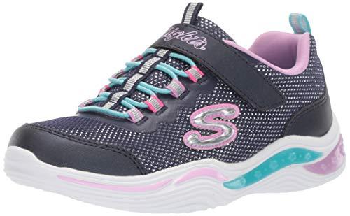 Skechers Mädchen Power Petals Sneaker Sneaker Größe 31 EU Blau (blau)