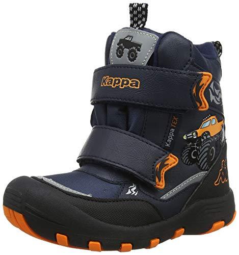 Kappa Jungen Big Wheel TEX Kids Klassische Stiefel, 6744 Navy/orange, 26 EU