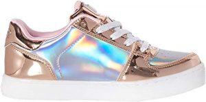 LED-Schuhe gold