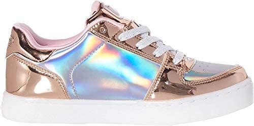 Skechers Mädchen Energy Lights - Shiny Sneaks Sneaker, Mehrfarbig (Rose Gold Rsgd), 38 EU
