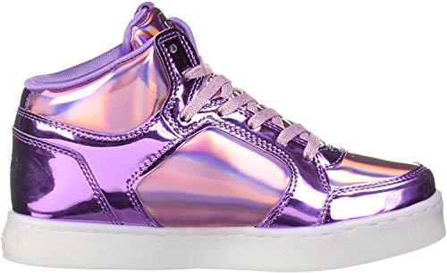 Skechers Mädchen Energy Lights - Shiny Brights Hohe Sneaker, Mehrfarbig (Pink/Purple Pkpr), 37 EU