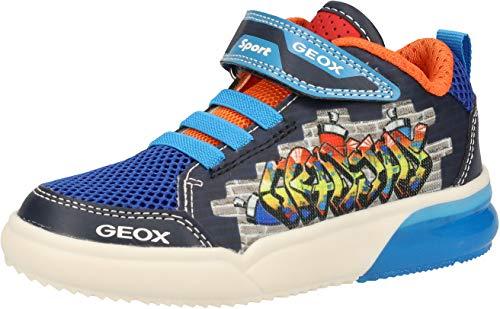 Geox Jungen J GRAYJAY Boy D Hohe Sneaker, Blau (Navy/Lt Blue C0693), 34 EU