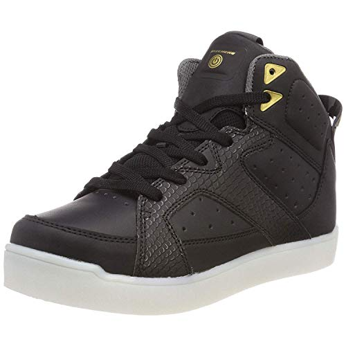 Skechers Unisex-Kinder E-Pro Street Quest Lights 90615 Hohe Sneaker, Schwarz (Black 90615l-Blk), 36 EU