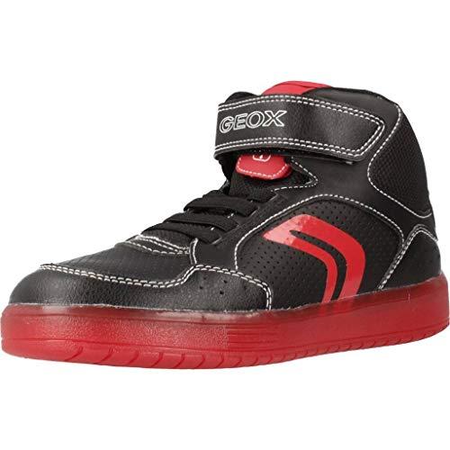 Geox Jungen J KOMMODOR Boy C Hohe Sneaker, Schwarz (Black/Red C0048), 30 EU