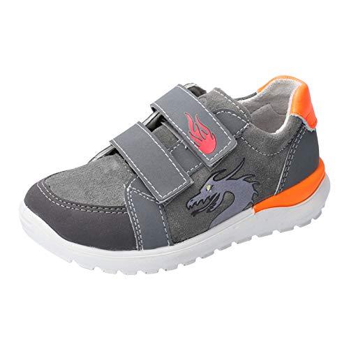 RICOSTA Jungen Sneaker Bobbi, Weite: Mittel (WMS),Blinklicht, Spielen verspielt detailreich Freizeit led licht Text,Patina/Graphit,31 EU / 12 Child UK