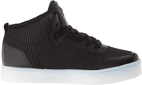 Skechers Jungen Energy Lights - Halation Hohe Sneaker, Schwarz (Black Blk), 33 EU