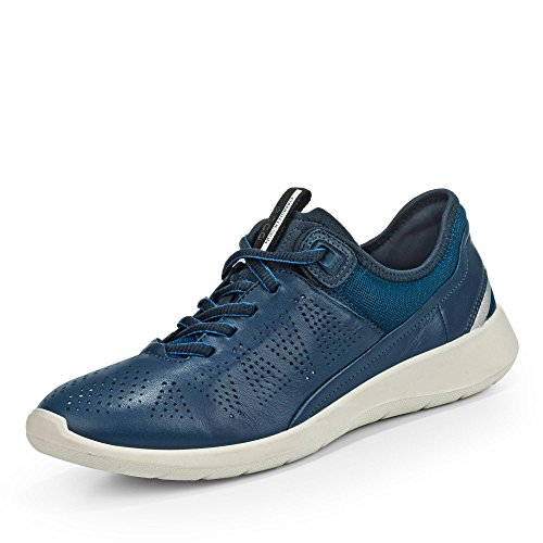 ECCO Damen Soft 5 Sneaker, Blau (50357true Navy/Poseidon-Black), 38 EU