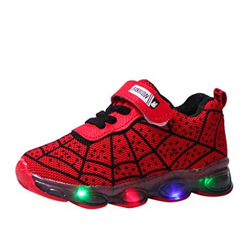 Anglewolf LED Leuchtende Bunte Sneaker Turnschuhe Unisex Kinder Jungen Sportschuhe Schuhe Verbesserung Farbe Blinkende Light Up Sneakers Licht Sport Mode Kinderschuhe Weiche Outdoorlaufschuhe FüR