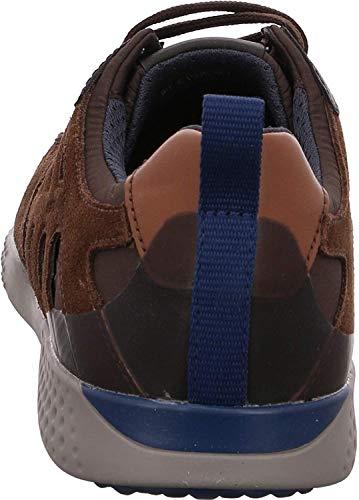 Geox Herren U Snake.2 A Sneaker, Braun (Brown/Coffee C0183), 45 EU