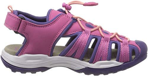 Geox Mädchen J Borealis Girl B Geschlossene Sandalen, Pink (Fuchsia/Violet C8370), 37 EU