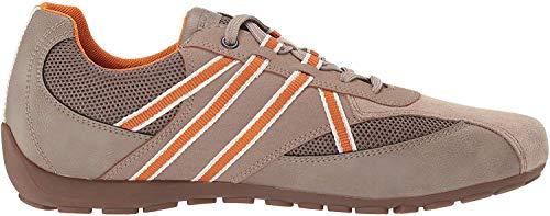 Geox Herren Ravex 3 Sneaker Turnschuh, Beige/Grau, 46 EU