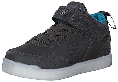 Skechers Kinder High Sneaker Boots Nappa 90613L CCBL grau 526867