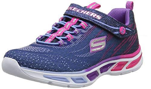 Skechers Girls' Litebeams Low-Top Sneakers, Blue (Nvmt), 2 UK 35 EU