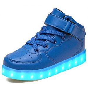Blaue Leuchtschuhe