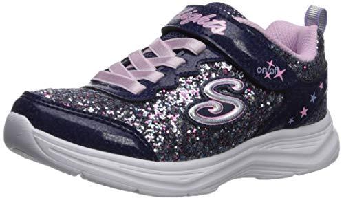Skechers Girls' Glimmer Kicks N' Glow Trainers, Blue (Navy & Multi Rock Glitter/Lavender & Lt Pink Trim Nvlv), 11.5 (29 EU)
