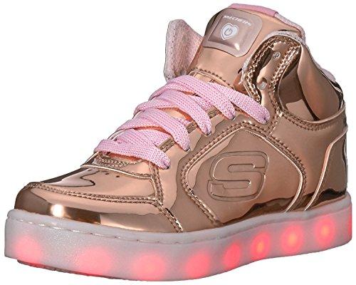 Skechers Mädchen Energy Lights Sneaker, Gold (Rose Gold), 38 EU