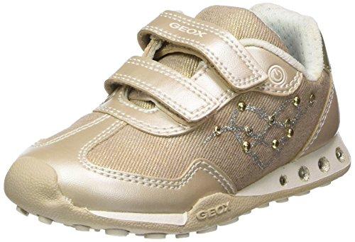 Geox Mädchen JR New Jocker Girl D Sneaker, Beige (Beige/Lt Gold), 33 EU