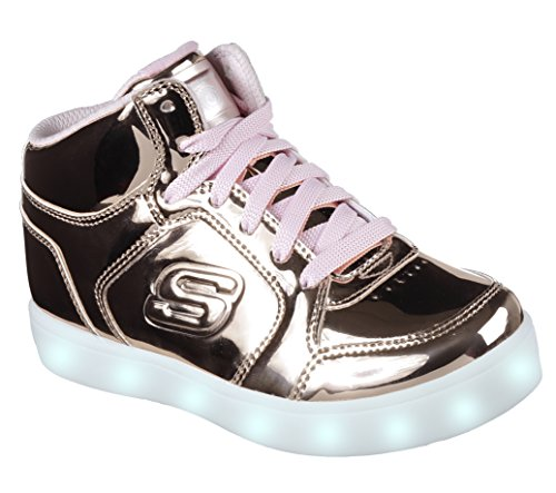 Skechers Mädchen Energy Lights Sneaker, Pink (Rose Gold), 35 EU