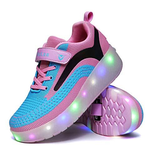 LED Skate Kinderschuhe Leuchtschuhe Blinkschuhe Laufschuhe USB Auflade Einstellbare Skateboardschuhe Ultraleicht Outdoor Sportschuhe Blinkschuhe Skateboardschuhe