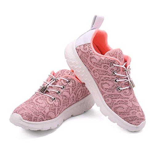 gracosy Fiber Optical Schuhe, Damen LED Sneaker Blinkt Sport Leuchten USB Lade Laufen Wanderschuhe Outdoor rutschfeste Lightweight Gym Gesundheit Ausbildung Fitness Wiederaufladbare Laufschuhe