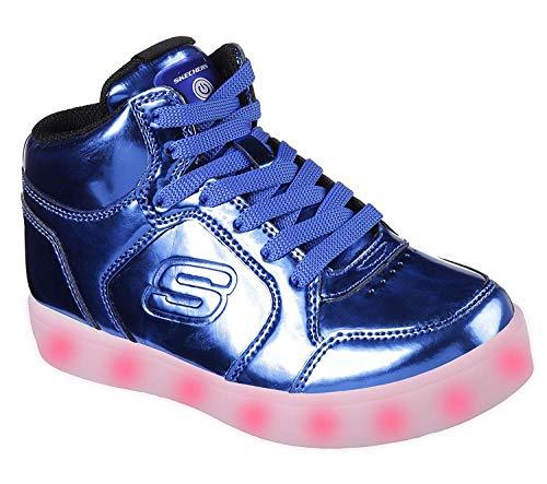 Skechers Jungen Energy Lights - Eliptic Sneaker, Blau (Royal), 34 EU