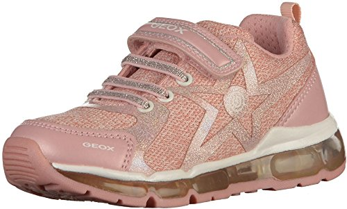 Geox Mädchen J Android Girl B Sneaker, Pink (Rose/White), 29 EU