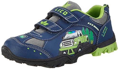 Lico Jungen MONSTERTRUCK V Blink Low-Top, Blau (Marine/Lemon), 31 EU