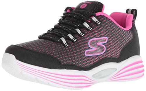Skechers Mädchen Luminators Luxe Sneaker, Schwarz (Black/Pink Bkpk), 33 EU