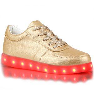 Goldene LED-Schuhe